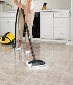 Steam clean tile floors